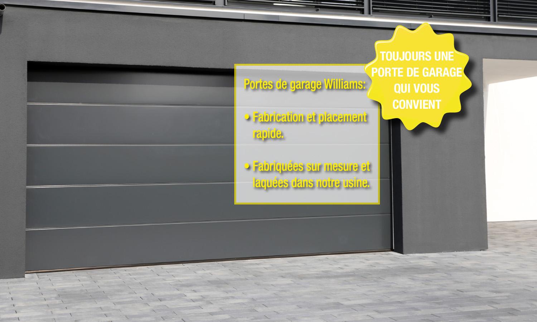 Portes de garage sectionnelles : maintenant 350€ de remise