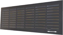 Grille de ventilation obturable